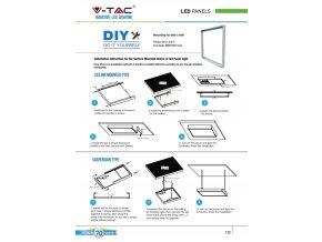 Hliníkový Kryt Pro Uchycení Led Panelu Na Zeď - Čtverec 600X600Mm  + Zdarma záruka okamžité výměny!